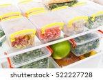 frozen food in the refrigerator.... | Shutterstock . vector #522227728