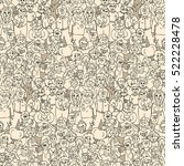 seamless vector pattern of...   Shutterstock .eps vector #522228478
