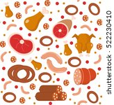meat products seamless pattern  ... | Shutterstock .eps vector #522230410