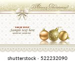 christmas card with ball and a... | Shutterstock .eps vector #522232090