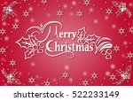 merry christmas | Shutterstock . vector #522233149