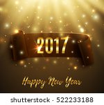 happy new year 2017 celebration ... | Shutterstock .eps vector #522233188