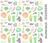 vector seamless pattern of... | Shutterstock .eps vector #522233350