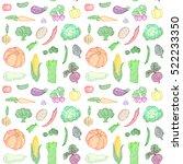 vector seamless pattern of... | Shutterstock .eps vector #522233350