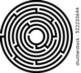 complex circle maze icon