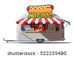 hot dog trailer. fast food.... | Shutterstock .eps vector #522235480