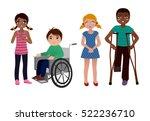 special needs children sad set | Shutterstock .eps vector #522236710