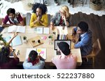 diverse group people working... | Shutterstock . vector #522237880