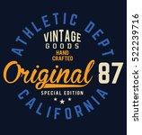 original t shirt. typography... | Shutterstock .eps vector #522239716