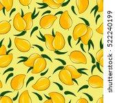 ripe mango on a bright... | Shutterstock .eps vector #522240199