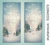 vintage merry christmas and... | Shutterstock .eps vector #522246073