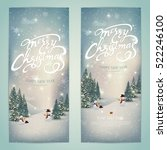 vintage merry christmas and...   Shutterstock .eps vector #522246100