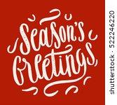season's greetings grunge... | Shutterstock .eps vector #522246220