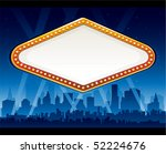 vegas city at night | Shutterstock .eps vector #52224676