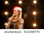 young blonde attractive woman...   Shutterstock . vector #522248770