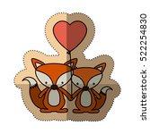 isolated fox cartoon design | Shutterstock .eps vector #522254830