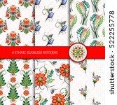 set of 6 seamless vector...   Shutterstock .eps vector #522255778