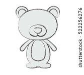 isolated bear cartoon design | Shutterstock .eps vector #522256276