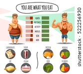 proper nutrition  diet calories ... | Shutterstock .eps vector #522256930