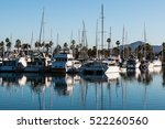 boats moored in bay at the...