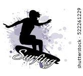 silhouette of the girl of the...   Shutterstock .eps vector #522261229