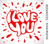 words i love you shaped in... | Shutterstock .eps vector #522264208