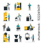blacksmith at work flat icons... | Shutterstock .eps vector #522265639