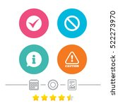 information icons. stop... | Shutterstock . vector #522273970