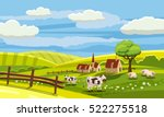 lovely countryside  farm ... | Shutterstock .eps vector #522275518