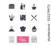 food  drink icons. coffee and... | Shutterstock . vector #522279973