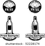 free drink rubber stamp | Shutterstock .eps vector #52228174