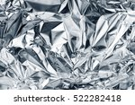 silver foil background with... | Shutterstock . vector #522282418