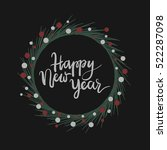 happy new year hand lettering... | Shutterstock .eps vector #522287098