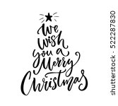 we wish you a merry christmas... | Shutterstock .eps vector #522287830