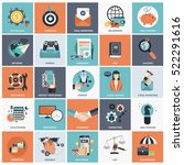 set of flat design icons for... | Shutterstock .eps vector #522291616