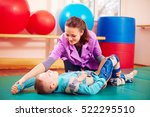 cute kid with disability has... | Shutterstock . vector #522295510