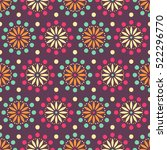 ethnic floral seamless pattern | Shutterstock .eps vector #522296770