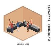 isometric flat 3d concept... | Shutterstock .eps vector #522296968