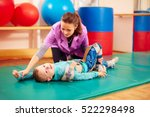 cute kid with disability has... | Shutterstock . vector #522298498