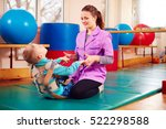 cute kid with disability has... | Shutterstock . vector #522298588