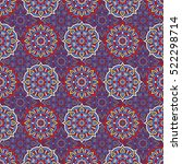 ethnic floral seamless pattern | Shutterstock .eps vector #522298714