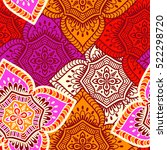 ethnic floral seamless pattern | Shutterstock .eps vector #522298720