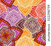 ethnic floral seamless pattern | Shutterstock .eps vector #522298759