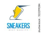 speeding running sport shoe...   Shutterstock .eps vector #522299284