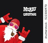 vector rock n roll santa claus... | Shutterstock .eps vector #522300970