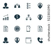 set of 16 human resources icons....