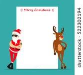 merry christmas  cartoon... | Shutterstock .eps vector #522302194