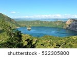 The Crater Of Taal Volcano In...