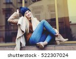 outdoor full body portrait of... | Shutterstock . vector #522307024