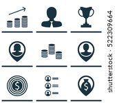 set of 9 management icons. can...